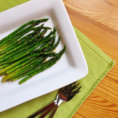 Simple Sauteed Seasoned Asparagus. On the table in 10 minutes. - Chocolate with Grace