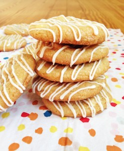 White Chocolate Lemon Cookies ~ Chocolate with Grace