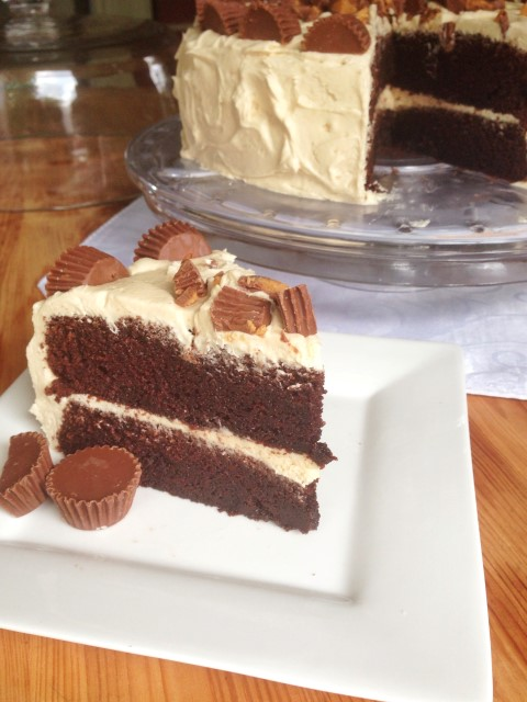 Chocolate Cake with Peanut Butter Frosting Chocolate with Grace