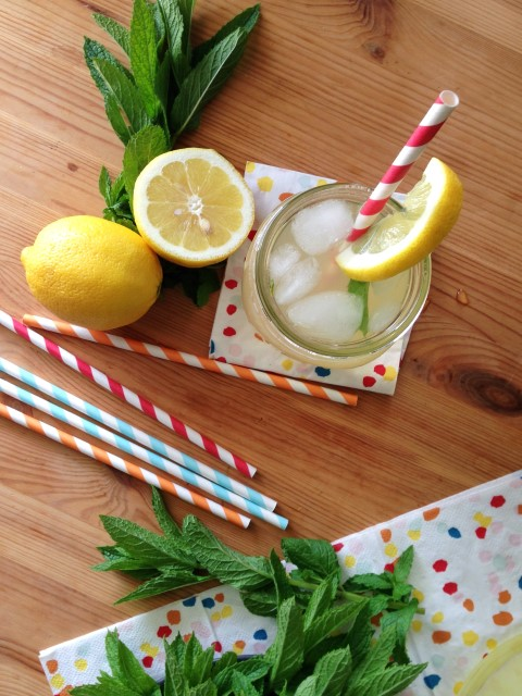 Mint Lemonade. Cool off on a hot afternoon with a cup of mint lemonade. It's a refreshing twist on a classic summer drink made with real lemons and fresh mint.