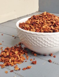 Crunchy, nutty granola spiced with chai and sweetened with honey - Chocolate with Grace