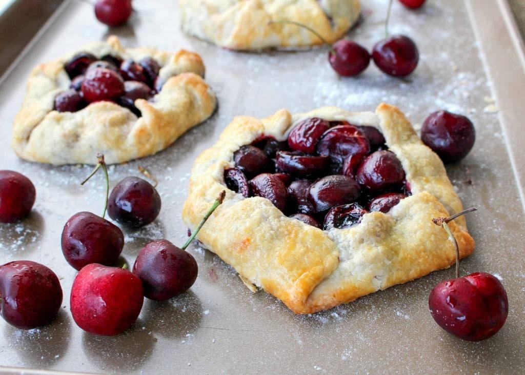 Rustic Cherry Tarts