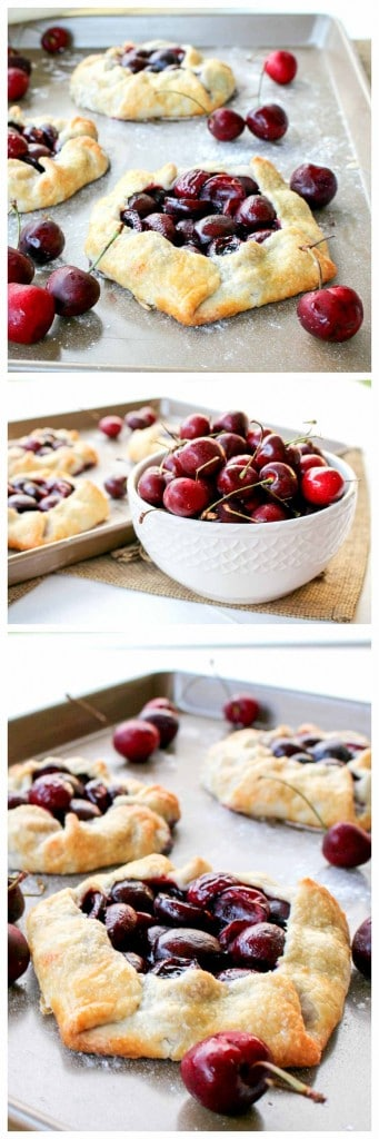 Rustic Cherry Tarts are a seasonal fave!