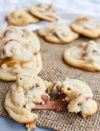 Caramel Cookies with Salty Pretzels