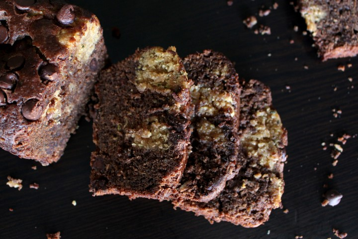 Peanut Butter Swirled Chocolate Zucchini Bread