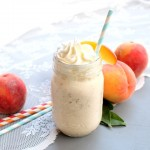 Brown Butter Peach Milkshake