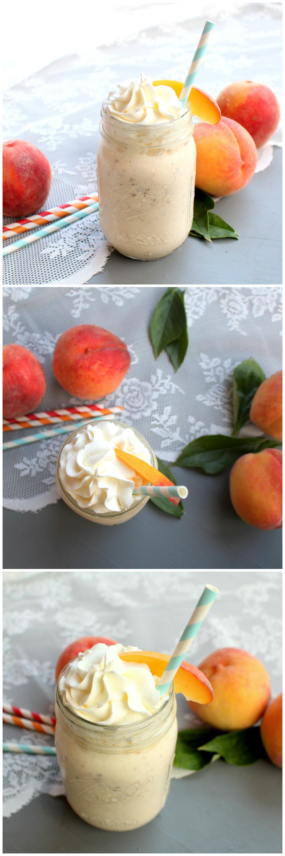 Brown Butter Peach Milkshake   www.chocolatewithgrace.com   #peach #milkshake