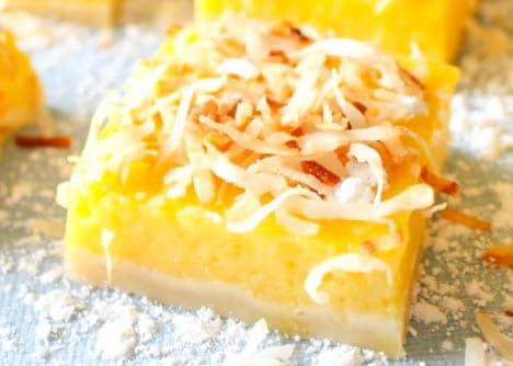 Sweetly tart Mango Lemon Bars