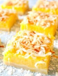 Mango Bars are a tropical twist on classic lemon bars.