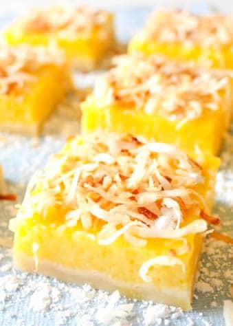 Mango Bars are a tropical twist on classic lemon bars.
