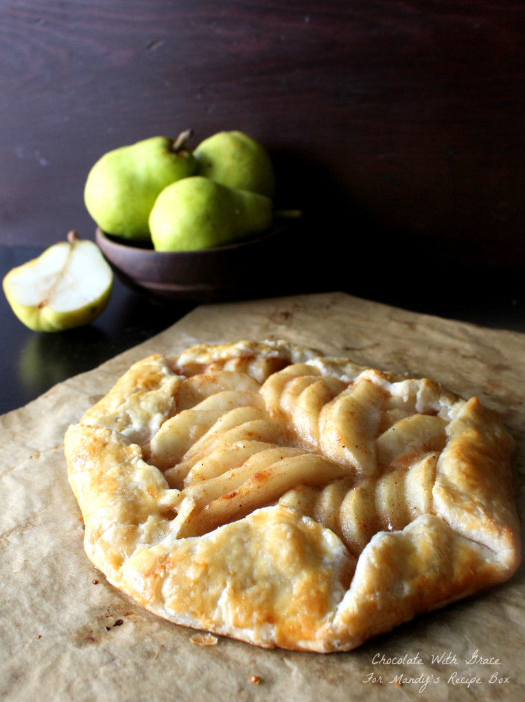 Caramel Pear Tart - a simple tart featuring pears and caramel.