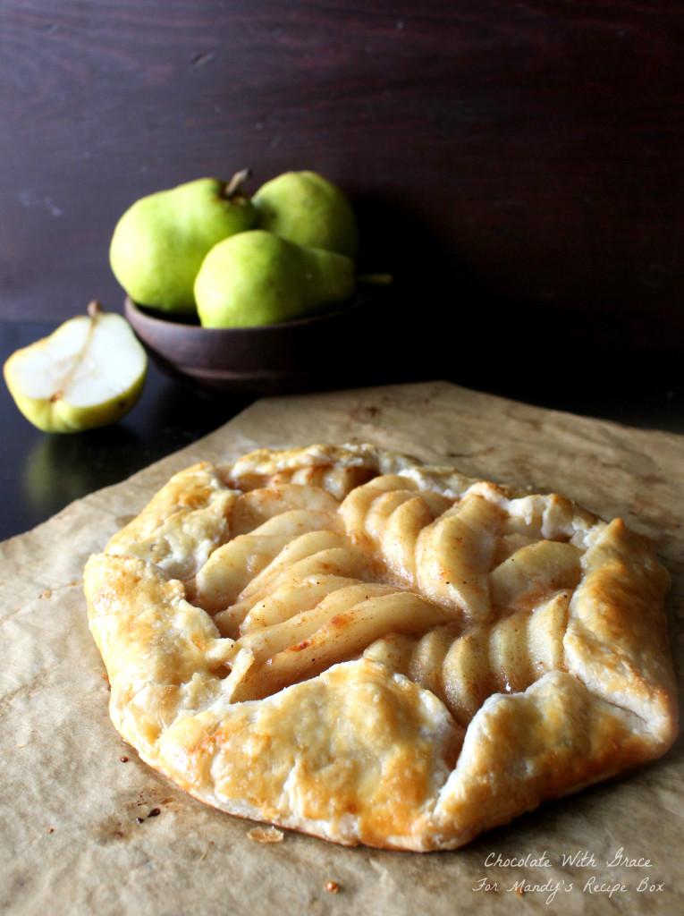 Caramel Pear Tart - a simple tart featuring pears and caramel.