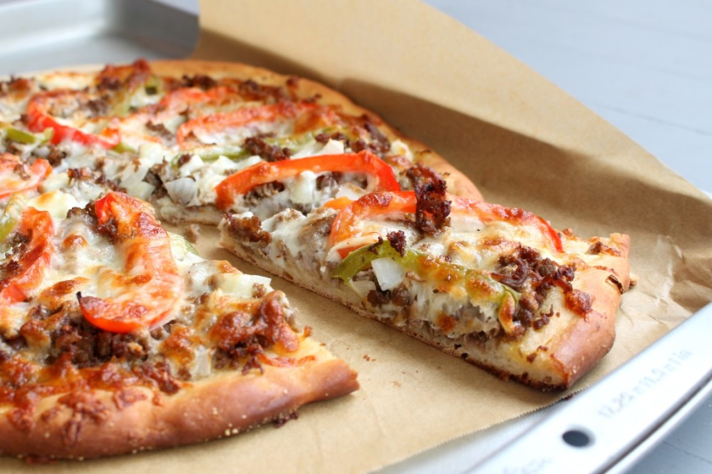 Philly Cheesesteak Pizza - The classic sandwich in pizza form!