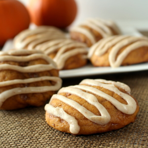 Toffee Pumpkin Cookies