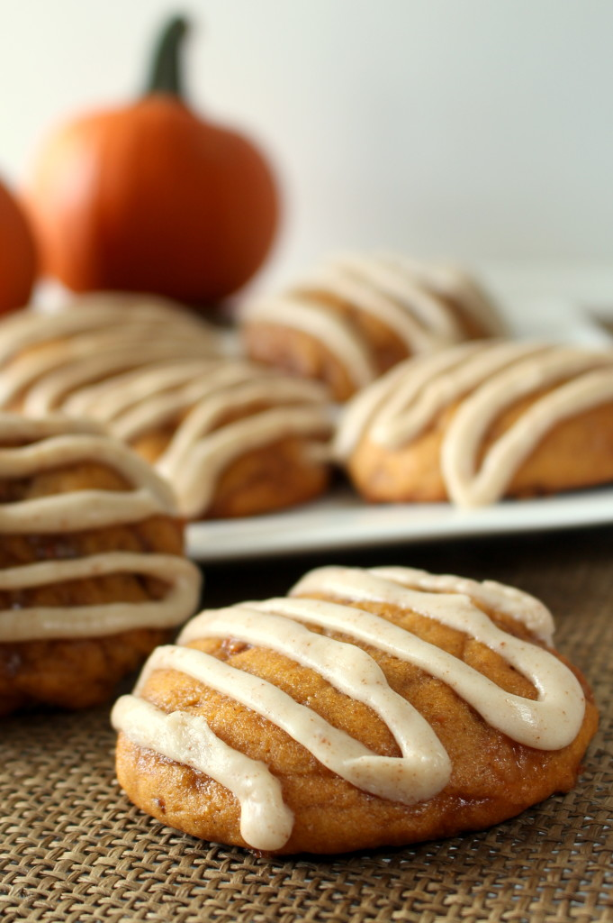 Pumpkin Toffee Cookies with Browned Butter Glaze