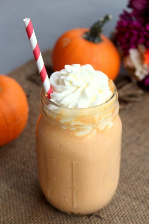 Caramel Pumpkin Milkshakes