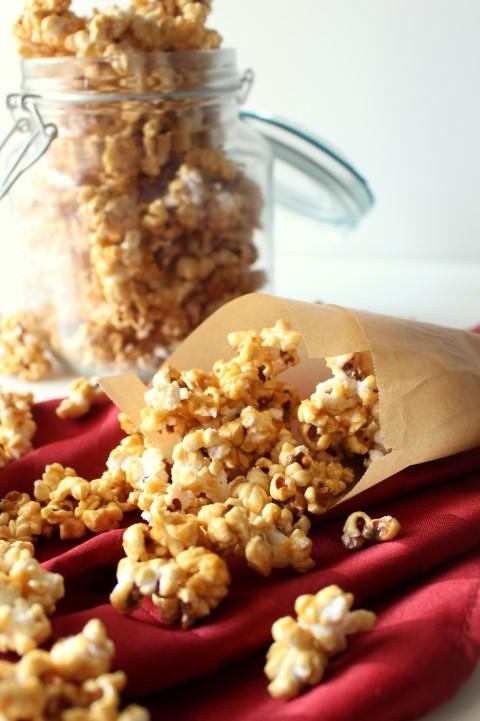 Microwave Salted Caramel Popcorn
