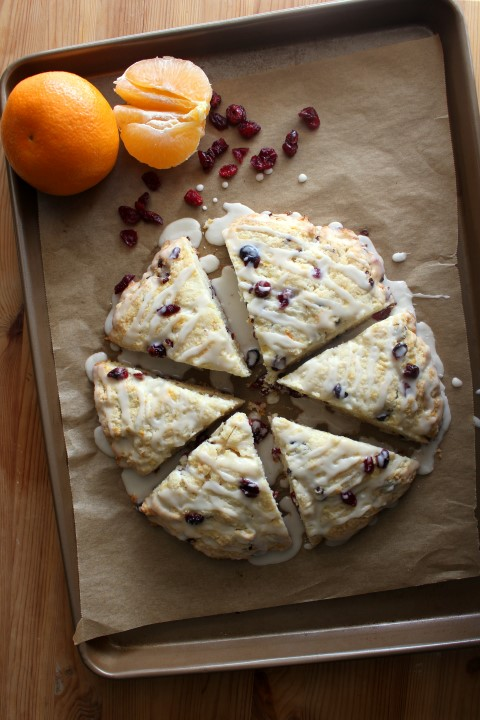 Cranberry Orange Scones - Enjoy the taste of fall in these moist, tender scones.