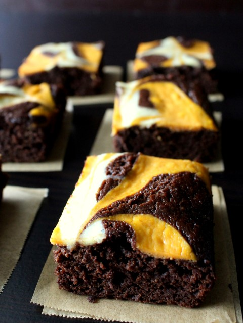 Pumpkin Cheesecake Swirled Brownies (5)