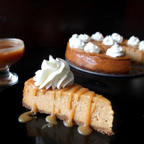 Salted Caramel Pumpkin Cheesecake - A perfect fall dessert!