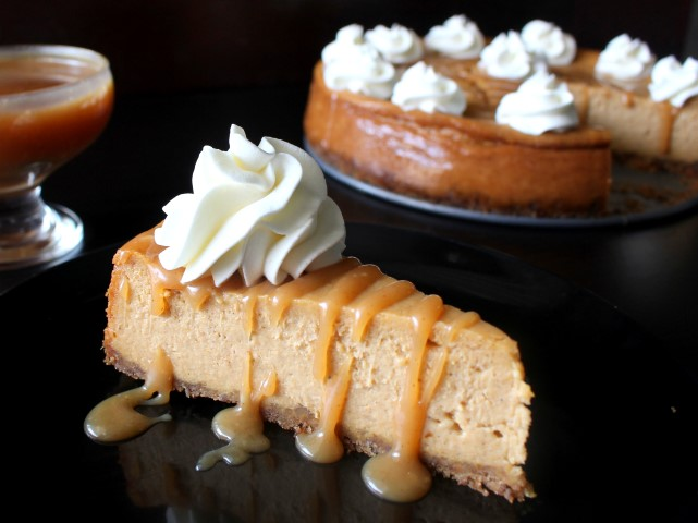 Salted Caramel Pumpkin Cheesecake - A perfect fall dessert!