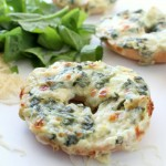 Spinach and Artichoke Bagel Melts (6)