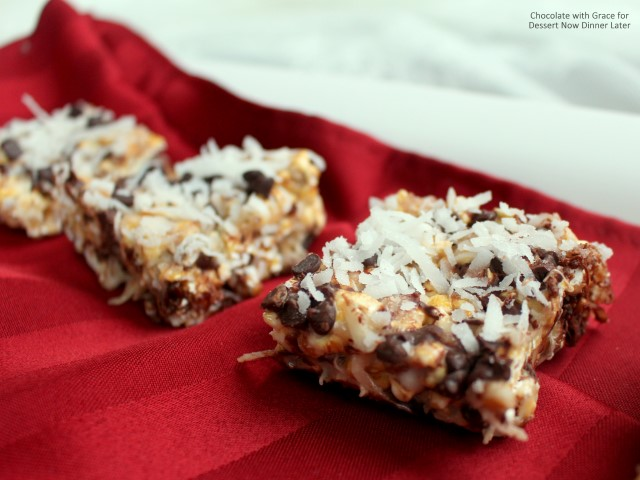 Chocolate Coconut Caramel Popcorn Bars (2)