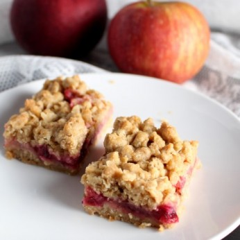 Brown Butter Cranberry Apple Crumb Bars