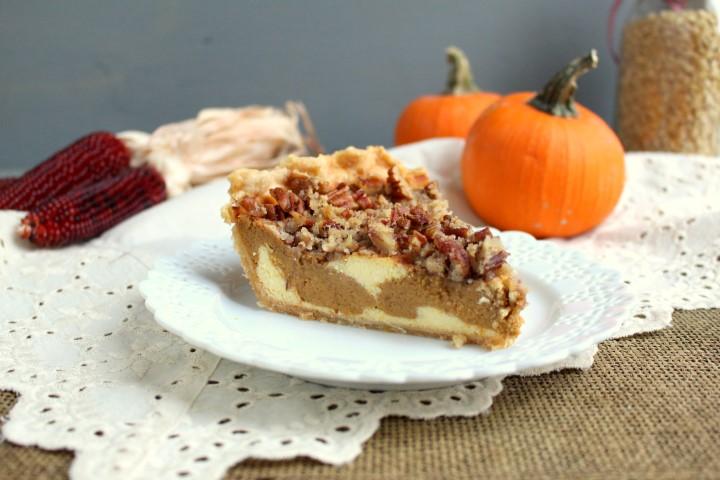 Pumpkin Cheesecake Pie with Pecan Streusel (3)