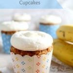 Banana Oatmeal Cupcakes with Cream Cheese Frosting. Banana Bread in cupcake form. #QuakerUp #MyOatsCreation #spon