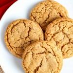 Chewy, Molasses Crinkle Cookies