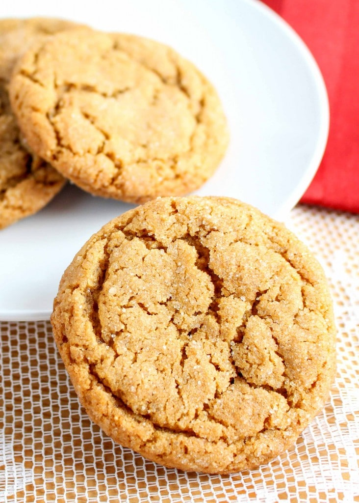 Soft and chewy Molasses Crinkle Cookies