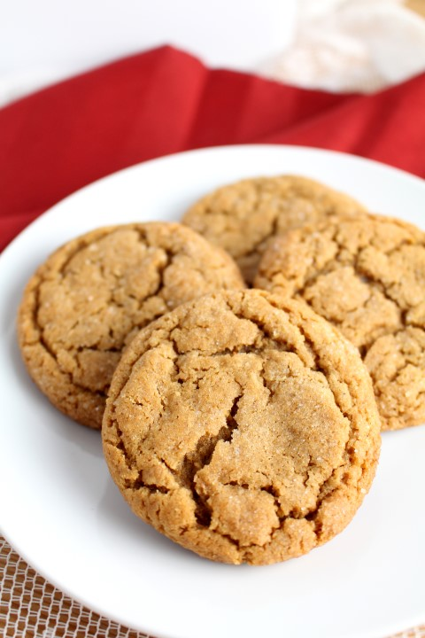 Soft Baked Molasses Crinkle Cookies | www.chocolatewithgrace.com