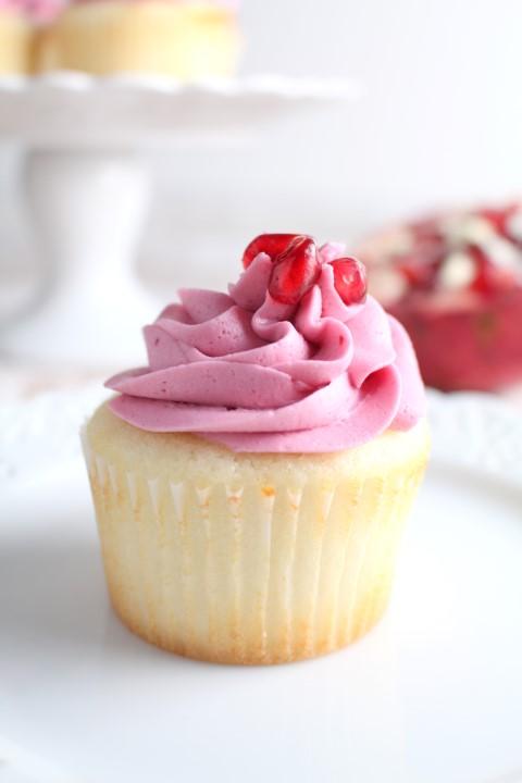 Pomegranate Cupcakes White Cake With Pomegranate
