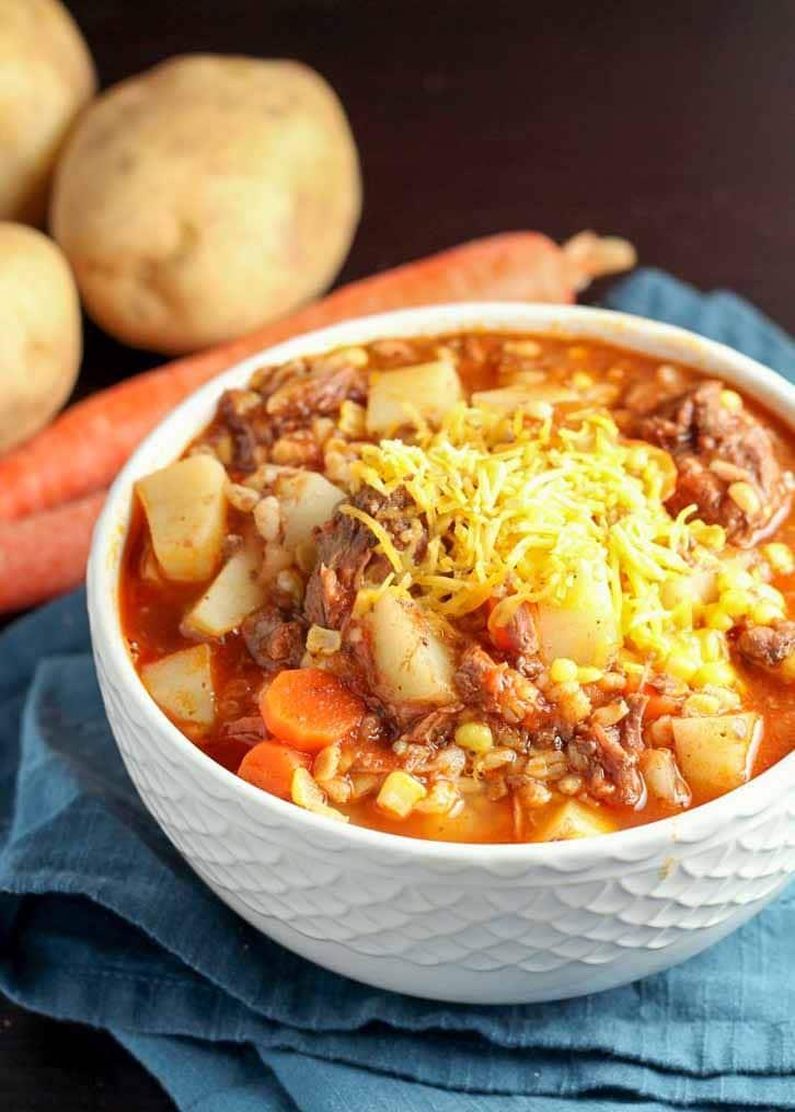 Beef Barley Soup is a winter favorite.