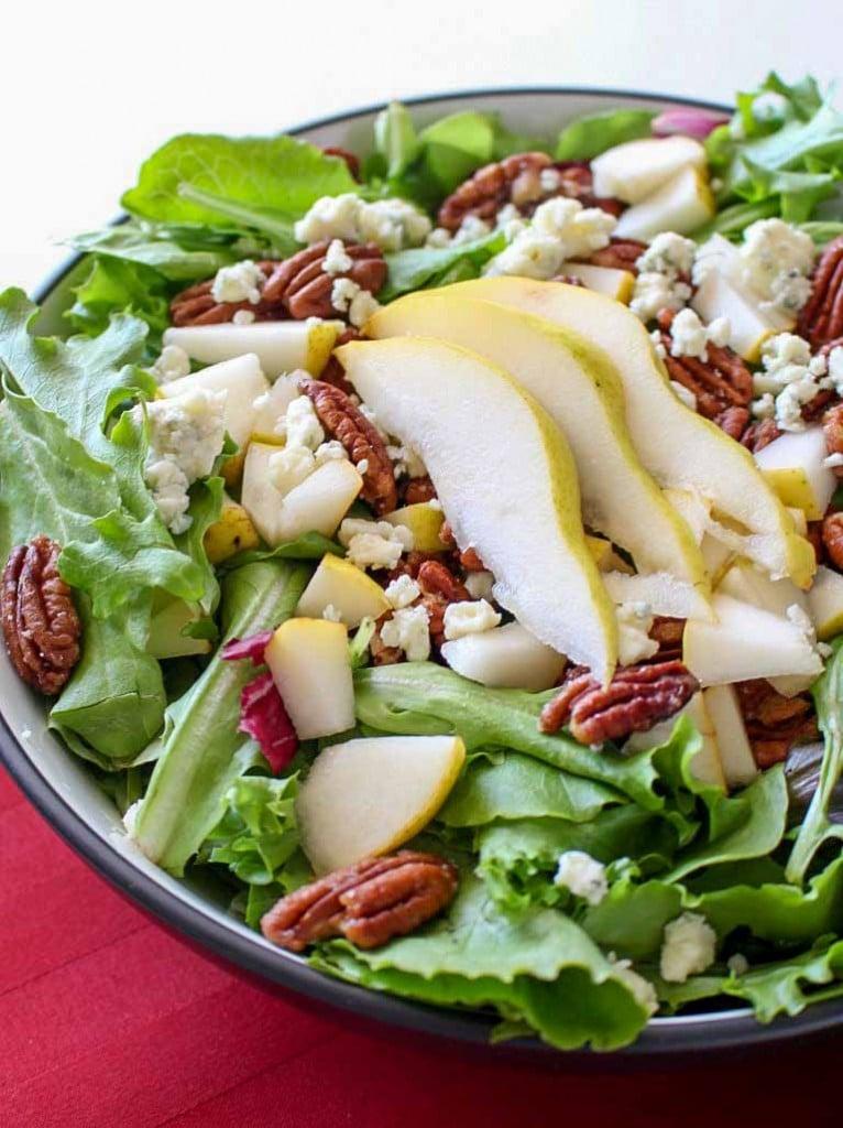 Pear Pecan and Bleu Cheese Salad