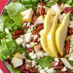 Pear Salad with Candied Pecans and Bleu Cheese