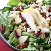 Pear, Pecan and Blue Cheese Salad