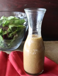 Healthy Dijon Vinaigrette recipe. A healthy salad dressing with no sugar added.