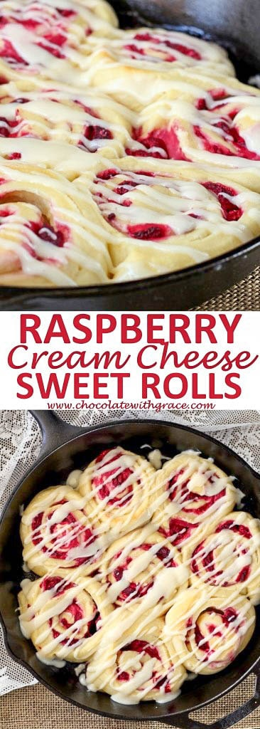Raspberry Sweet Rolls with Cream Cheese Frosting