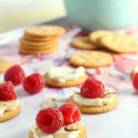 Raspberry Brie RITZ® Cracker Appetizers
