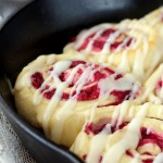 Raspberry Cream Cheese Sweet Rolls (4)