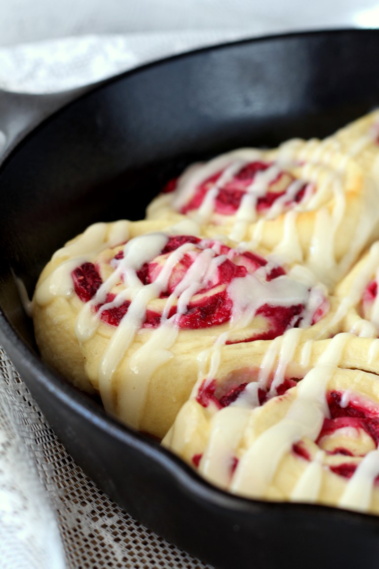 Raspberry Cream Cheese Sweet Rolls - Chocolate With Grace