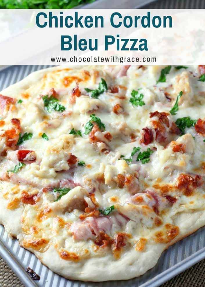 Easy Chicken Cordon Bleu Pizza
