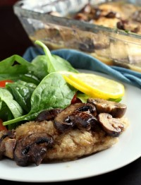 This recipe for Chicken Scallopini is an easy and healthy weeknight dinner that doesn't sacrifice on flavor. Ready in 45 minutes or less, the chicken is browned in a skillet, flavored with garlic, mushrooms and a white wine sauce and baked until tender.