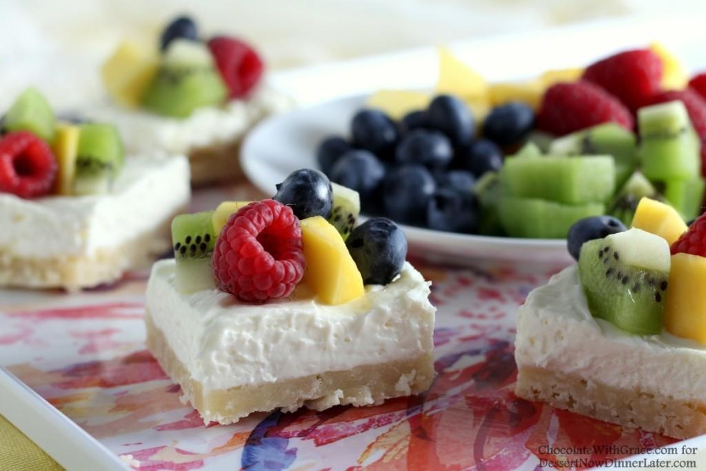 No Bake Fruit Cheesecake Bars (3)