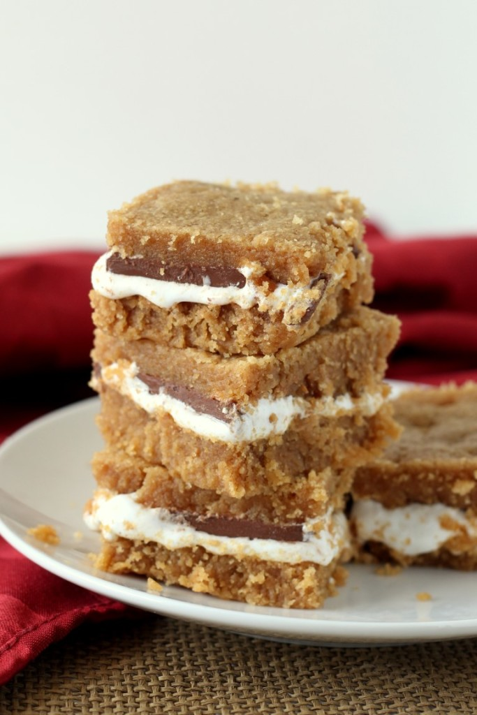 5-Ingredient Peanut Butter S'mores Bars