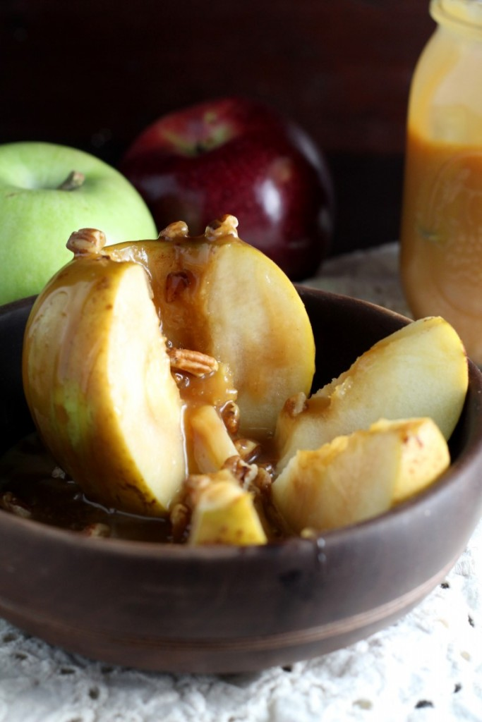 Inside Out Caramel Apples - a fun, easy way to enjoy the traditional fall treat.