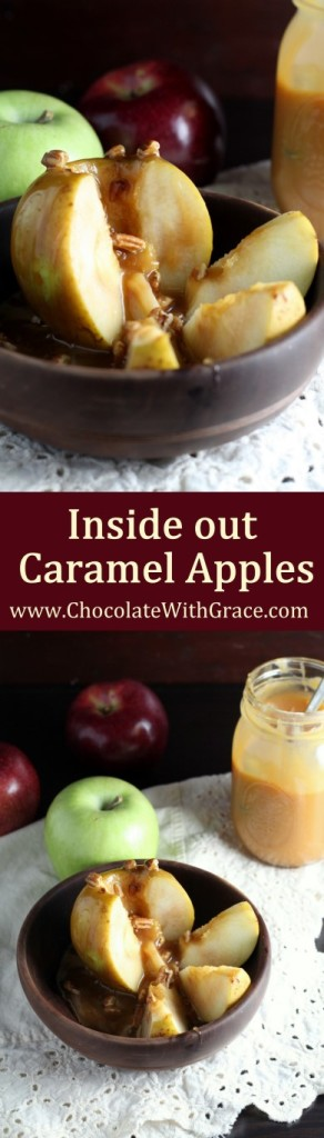 Inside Out Caramel Apples - A fun, easy way to enjoy the fall treat!