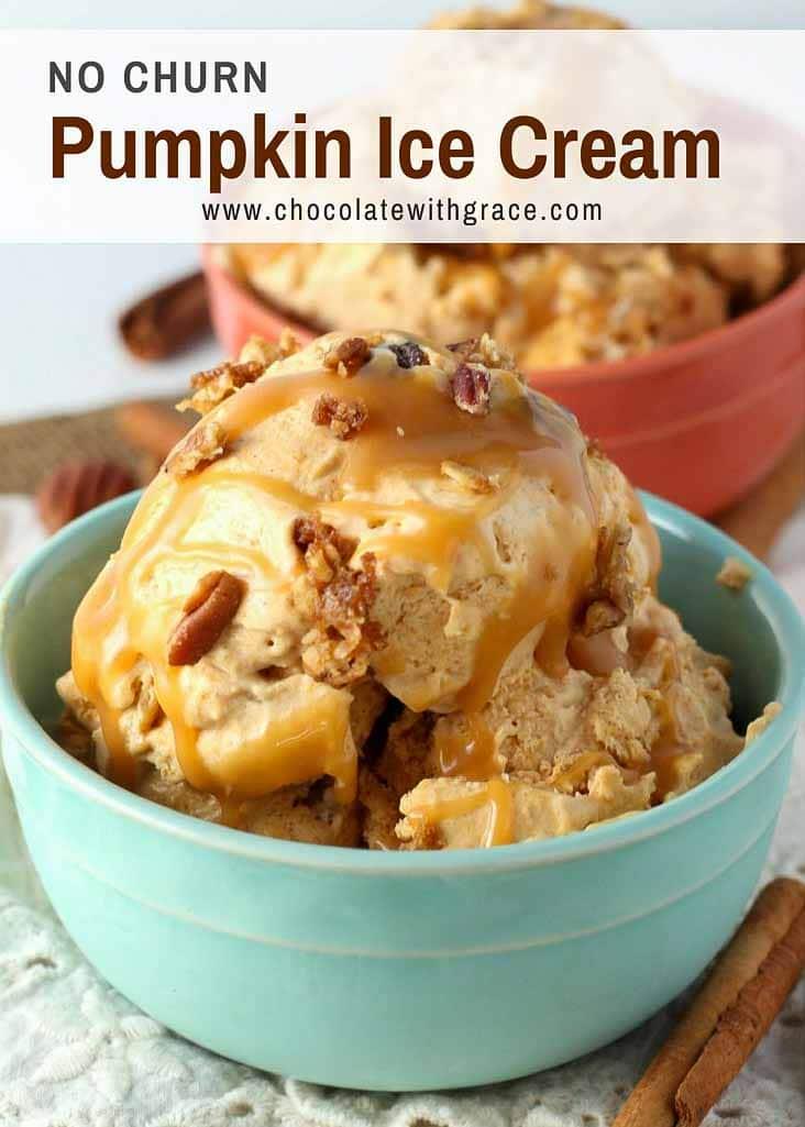 Pumpkin Ice Cream with Pecan Crunch